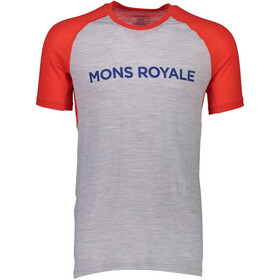 Mons Royale M's Temple Raglan Tech T-Shirt Bright Red/Grey Marl